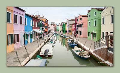 Island of Burano, Venice, Italy, 2013  ©Gerald Diamond All rights reserved