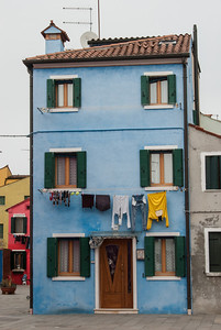 Wash Day #2, Burano, Venice, Italy 2013  ©Gerald Diamond All rights reserved