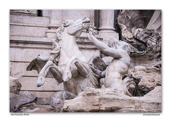 Trevi Fountain, Rome  ©Gerald Diamond All rights reserved