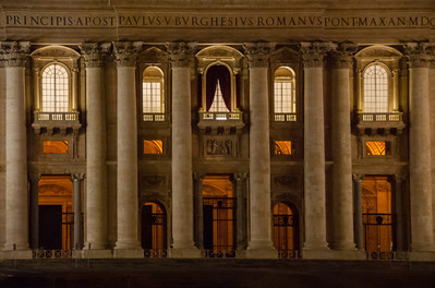 St. Peter's Basilica Entrance, Rome, 2013  ©Gerald Diamond All rights reserved