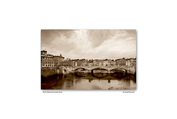 Ponte Vittorio Emanuele, Rome, Italy  ©Gerald Diamond All rights reserved