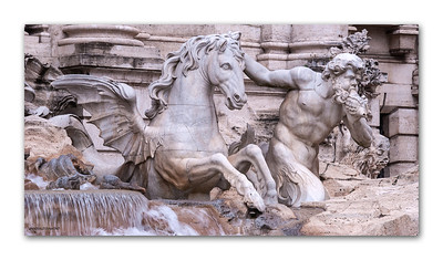 Trevi Fountain, Rome, 2013  ©Gerald Diamond All rights reserved