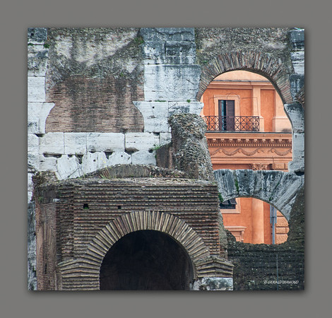 Ancient Window - Colosseum, Rome, 2013  ©Gerald Diamond All rights reserved