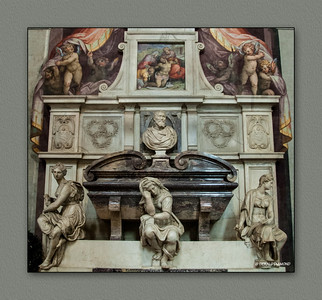 Tomb of Michelangelo Buonarotti, Basilica of Santa Croce, Florence, 2013  ©Gerald Diamond All rights reserved