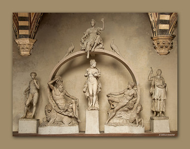 Bargello Museum - Reconstruction of ancient fountain, Florence, 2013  ©Gerald Diamond All rights reserved