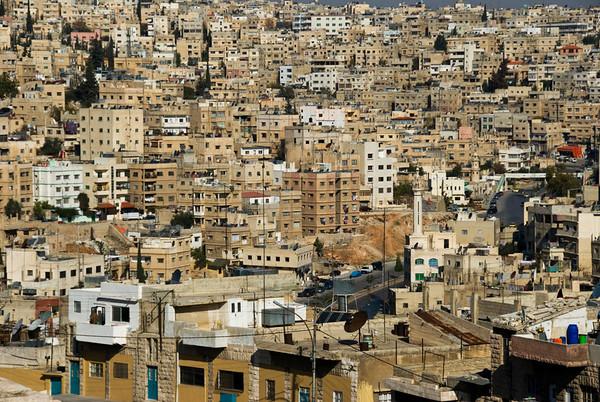 Amman, Jordan Cityscape From The Citadel - 1