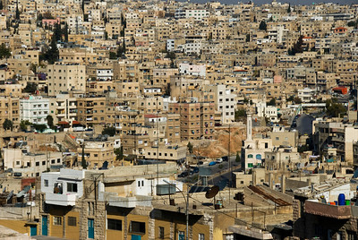 Amman, Jordan Cityscape From The Citadel - 1