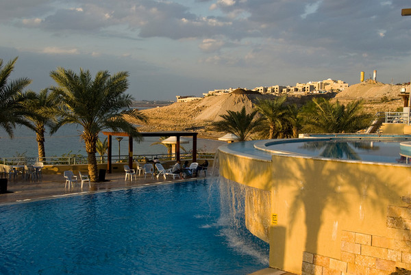 Dead Sea Spa on the Eastern shores in Jordan.