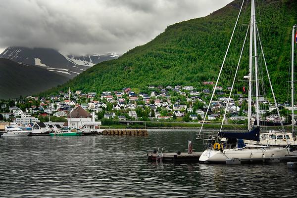 Tromso Harbor & Mountains, Norway