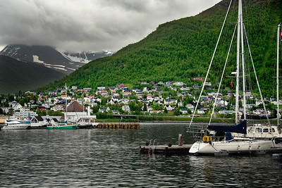 Tromso Harbor & Mountains, Norway