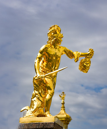 Statue at Peterhof Palace