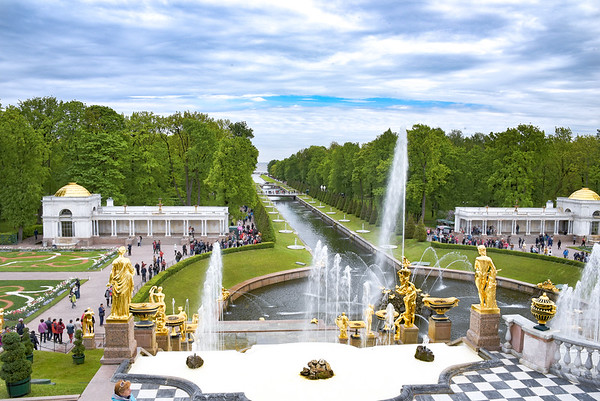 Peterhof Gardens near St. Petersburg Russia