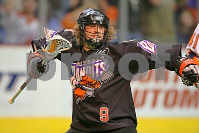Mark Steenhuis celebrates wildly as his 4 consecutive goals to open the 4th quarter propelled the Buffalo Bandits into the Champions Cup game.    LP-08-702-07 copy