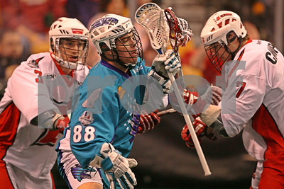 Cody Jamieson Rochester Knighthawks, Matt Abbott, Scott Campbell Boston Blazers  LP-11-0092-20-LRcrop copy