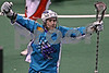 Rochester Knighthawks Shawn Evans celebrates his game winning goal against the Boston Blazers 48 seconds into overtime