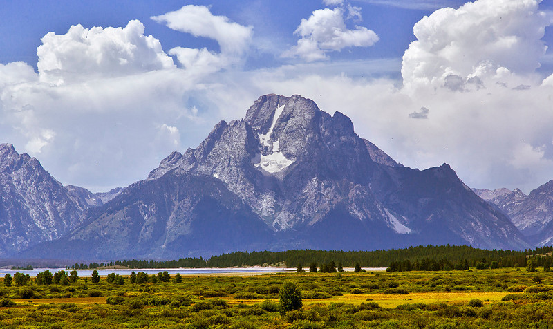 Mount Moran, one of the peaks in the Grand Tetons.