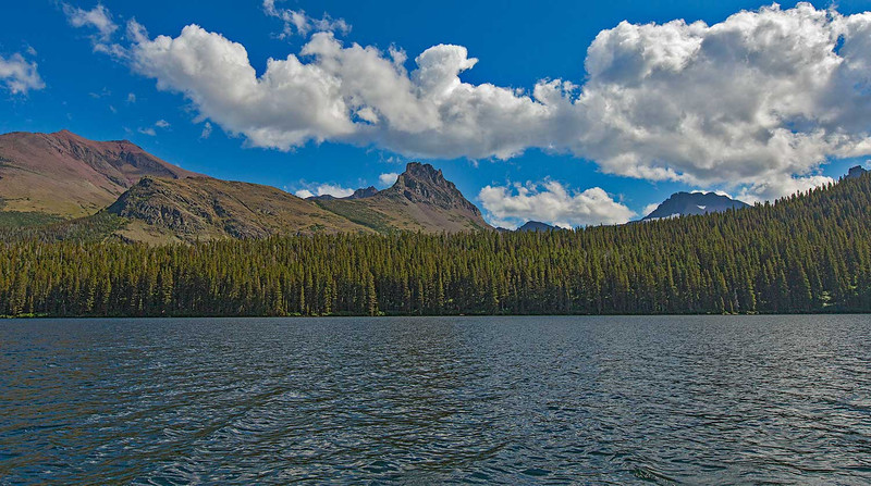 View from the boat ride back across Two Medicine Lake.