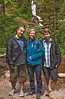 Tim, Carol, and David, on our hike. Carol did have her bear spray at the ready!