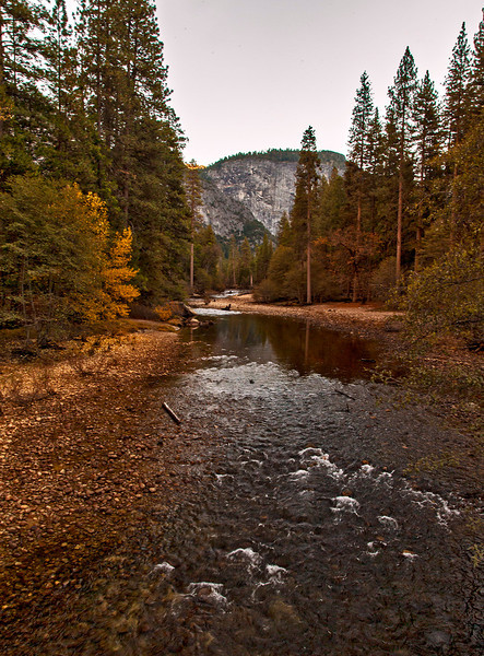 The Merced River will become a raging torrent in the late Spring.