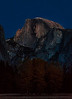 Waiting for moon rise---Half Dome in post-sunset light.
