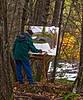 Plein aire artist, near the Merced RIver.