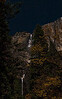 Yosemite Falls in moonlight.