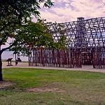 Construction of a storage facility at Historic Jamestown
