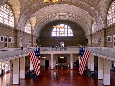 The Registry Room on Ellis Island