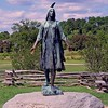 The Pocahontas Statue at Historic Jamestown, VA