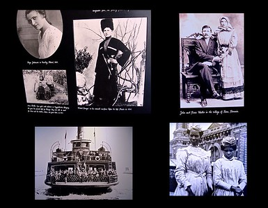My photo of these pictures on display at Ellis Island shows the diversity