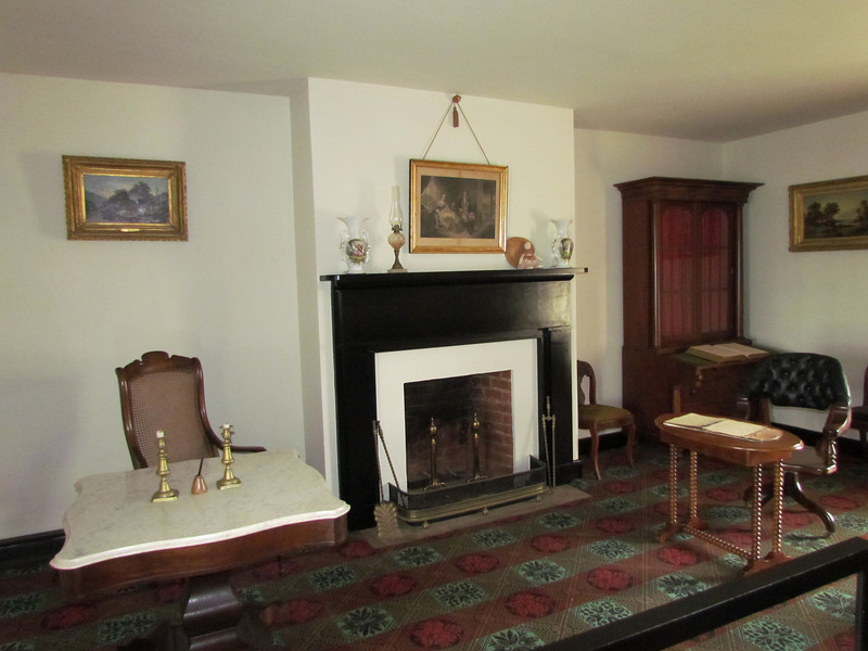 The parlor of the Mclean House were Lee and Grant met.  Lee arrived first and set at the table on the left.