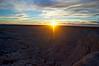 Sunset. Badlands, South Dakota.
