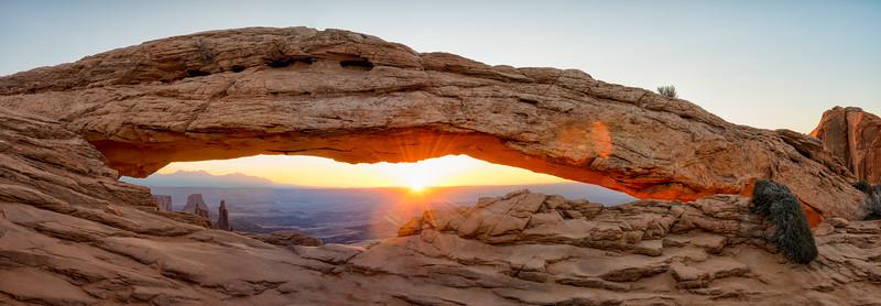 Mesa Arch Sunrise - Panorama - Canyonlands