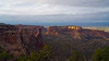 A view across Monument Canyon and Grand Junction beyond, just before sunset at the Colorado National Monument