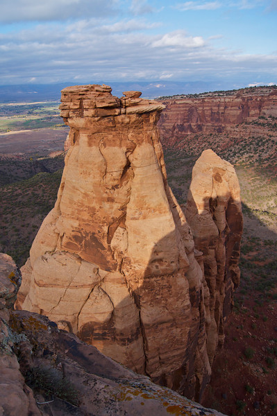 "The ""Pipe Organ"" formation viewed from Otto's Trail; Colorado National Monument"