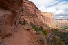 An easy trail winds its way down the cliff walls into Monument Canyon; Colorado National Monument