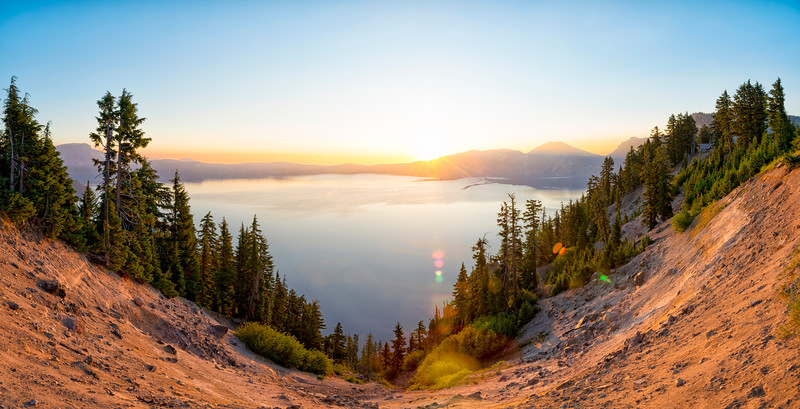 Crater Lake Sunrise Panorama - Crater Lake-2
