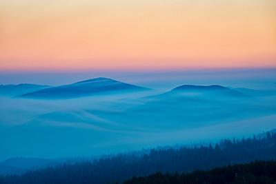 Smokey Hills Sunset - Crater Lake