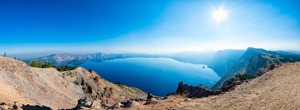 Crater Lake Fish Eye Panorama - Crater Lake-2
