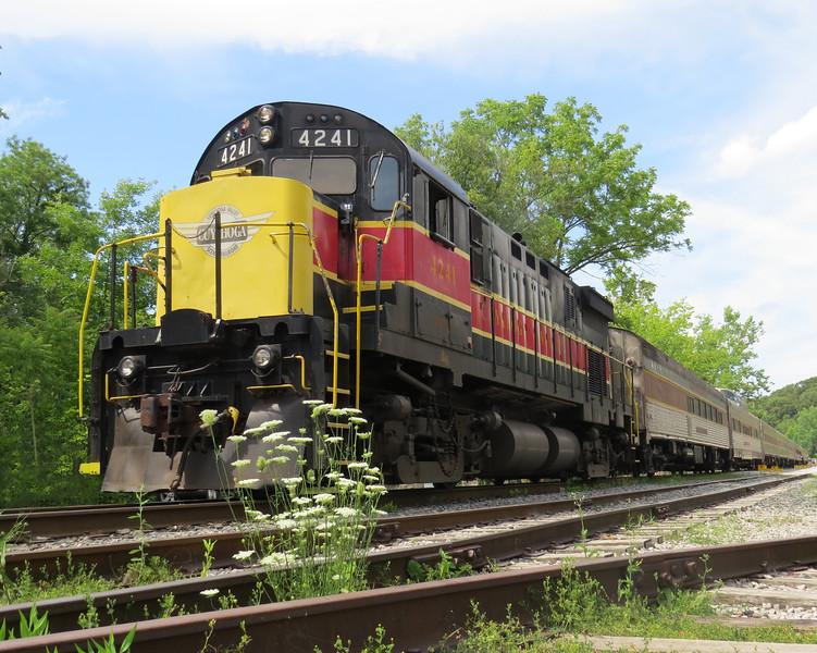 Cuyahoga Valley Railroad locomotive at Peninsula