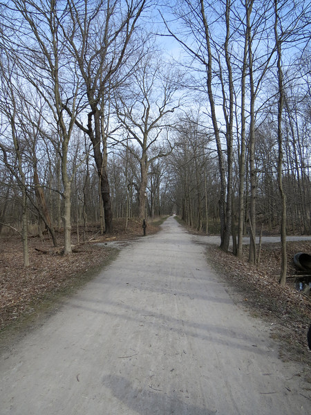 Heading north along the tow path.  The connecting trail to the Standford house heads off to the right.