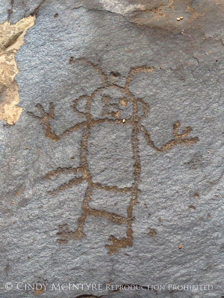 Flat rock petroglyphs, BLM land 3 3 m N of Canyon Overlook (2)