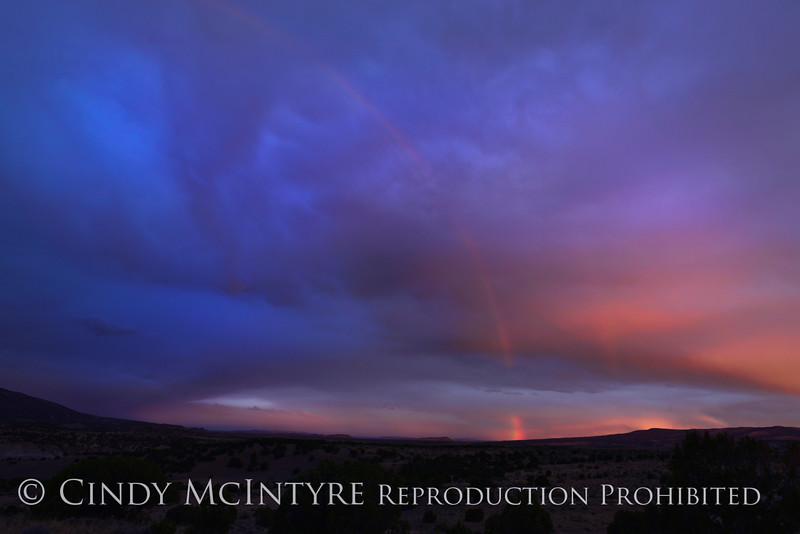 Rainbow over Rainbow Park at dawn, DINO UT 12