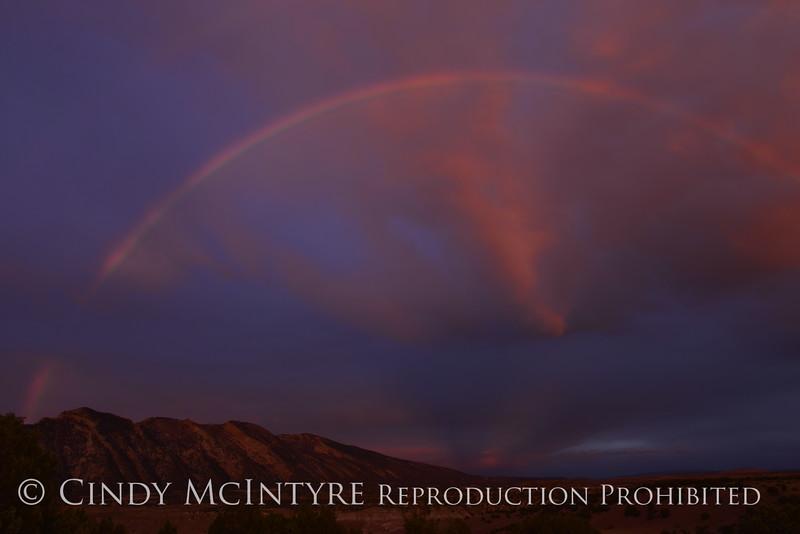Rainbow over Rainbow Park at dawn, DINO UT (4)