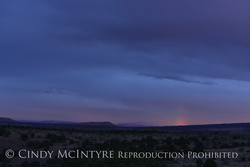 Rainbow over Rainbow Park at dawn, DINO UT 15