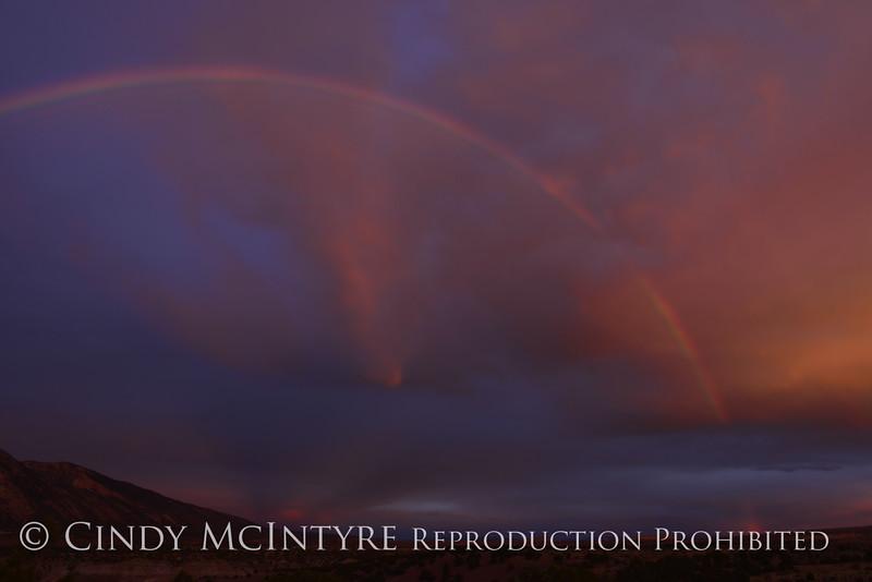 Rainbow over Rainbow Park at dawn, DINO UT (7)