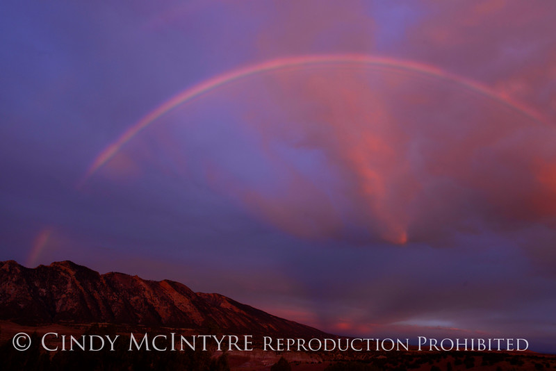 Rainbow over Rainbow Park at dawn, DINO UT (8)