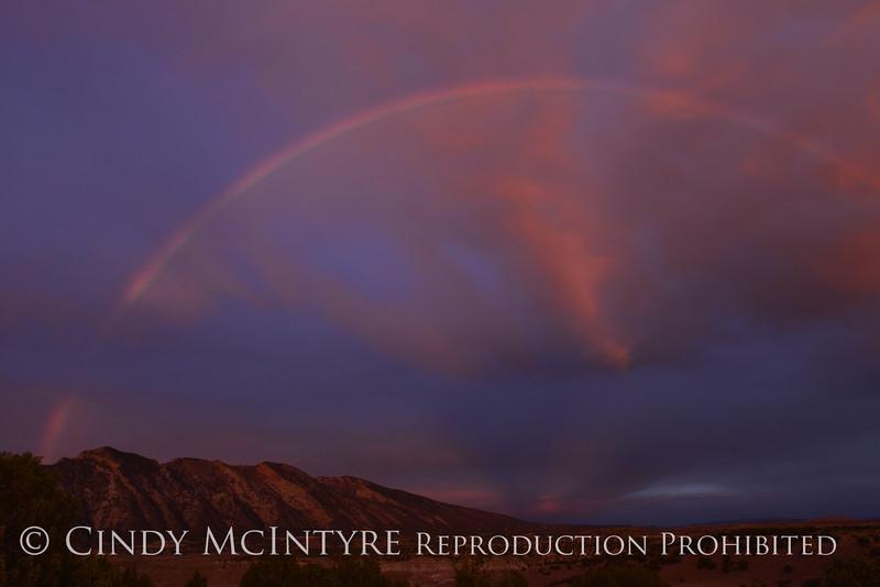 Rainbow over Rainbow Park at dawn, DINO UT (2)