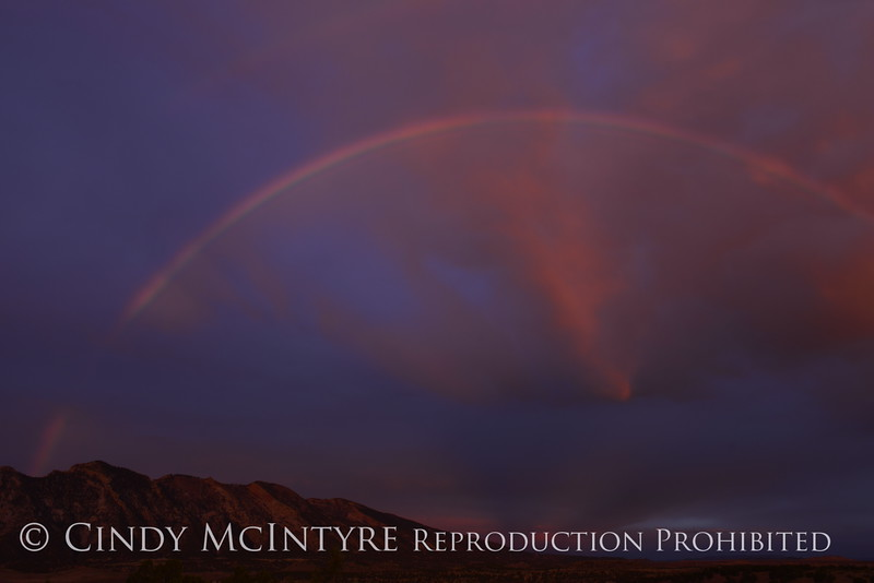 Rainbow over Rainbow Park at dawn, DINO UT (5)