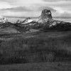 Chief Mountain in B&W